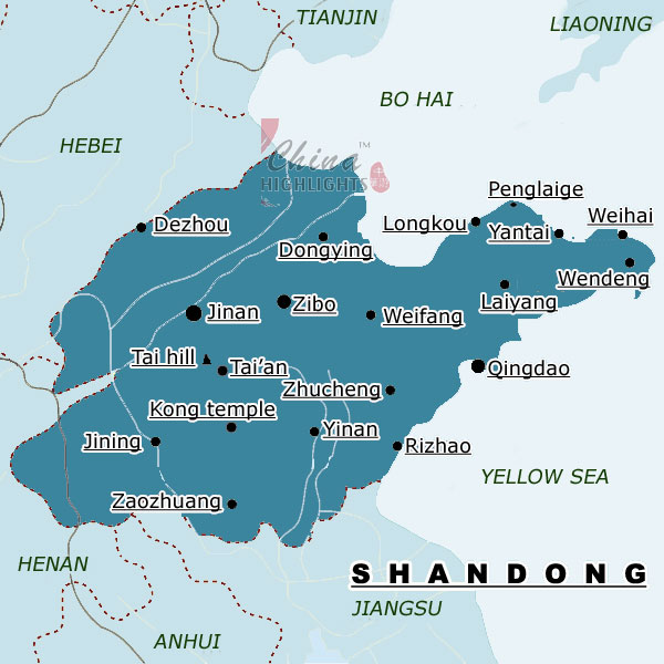 Map of Shandong Province